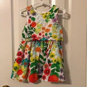 Toddler girl flower dress